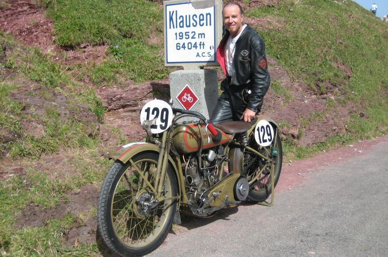 Klausenpass motorcycle Harley Davidson