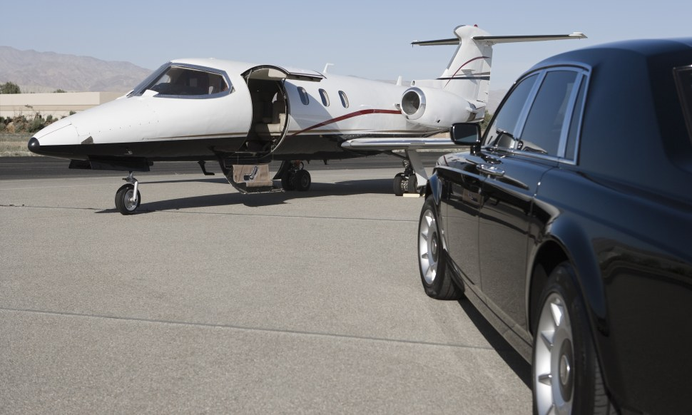 Privatjet pickup rolls royce