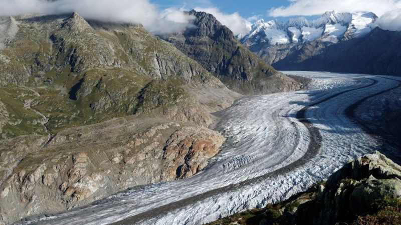 Aletsch Glacier at the Grand Tour