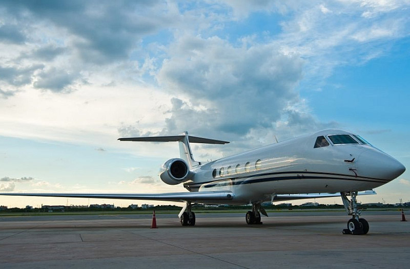 Challenger 300 At Airport