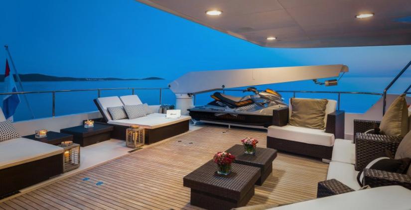 Mega Yacht Brazil Upper Deck