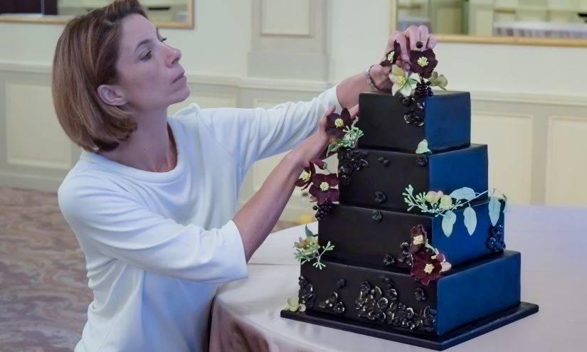 Hochzeitstorte im Four Seasons Hotel des Bergues