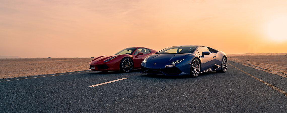 Ferrari Lamborghini Wüste