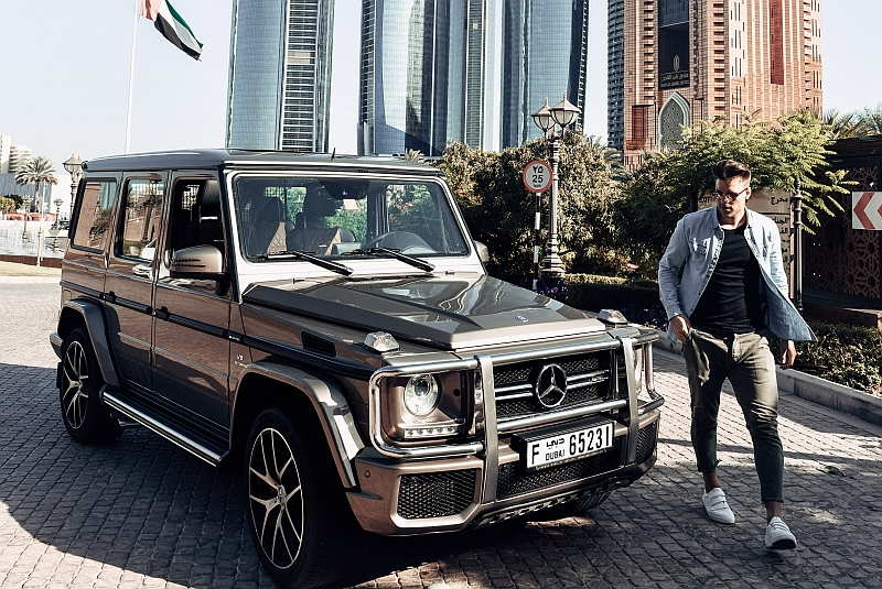 Mercedes G63 on the F1 and Supercar UAE Grand Tour