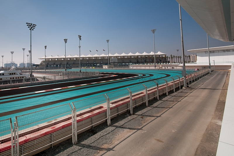 Yas Marina Circuit on the F1 and Supercar UAE Grand Tour