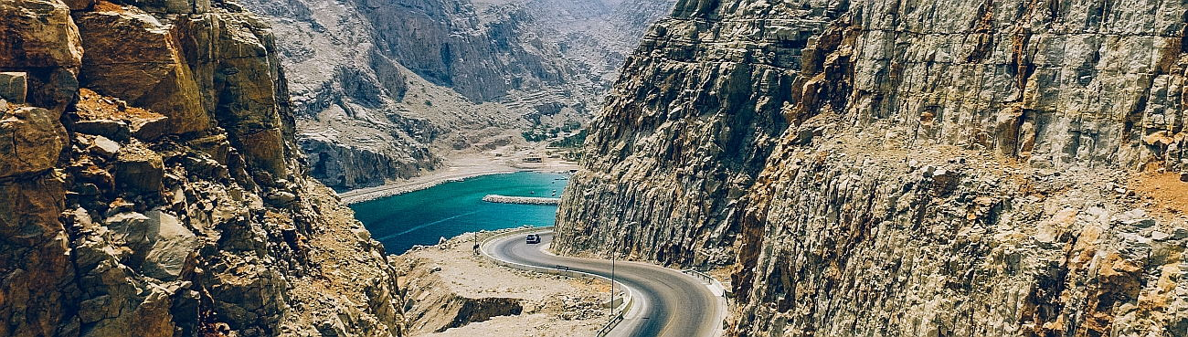 Mountain Road Musandam Peninsula Oman